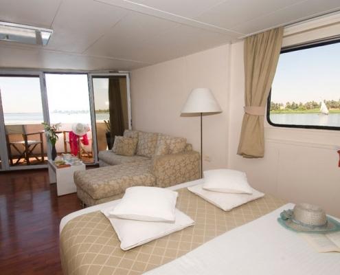 Luxus Nilkreuzfahrt Yacht Alexander the Great - Panorama Suite